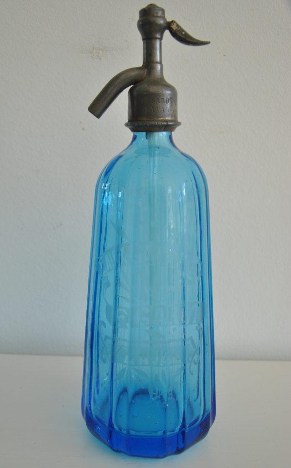 Blå fransklsifonflaske