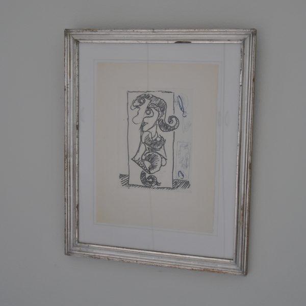 Skøn Alechinsky i sølvramme