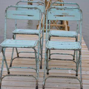 Skønne lyseblå klapstole