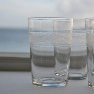 6 smukke krystalvandglas fra frankrig