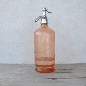 Lysereød sifonflaske