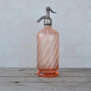Lyserød Sifonflaske