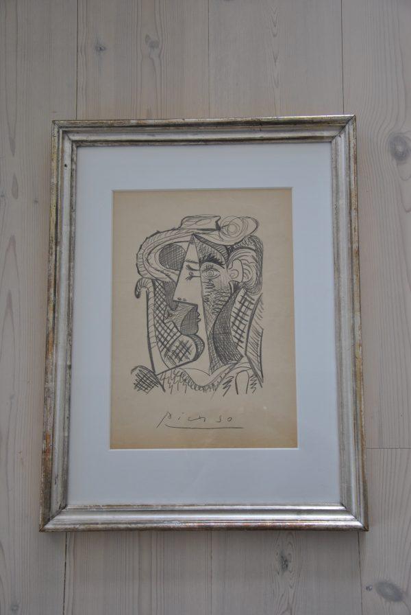 Picasso tryk i fransk sølvramme
