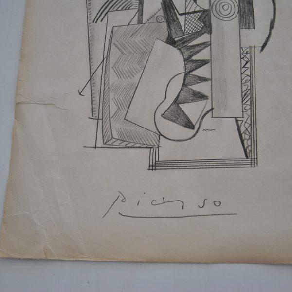 Karakteristisk tegning på papir af Pablo Picasso.