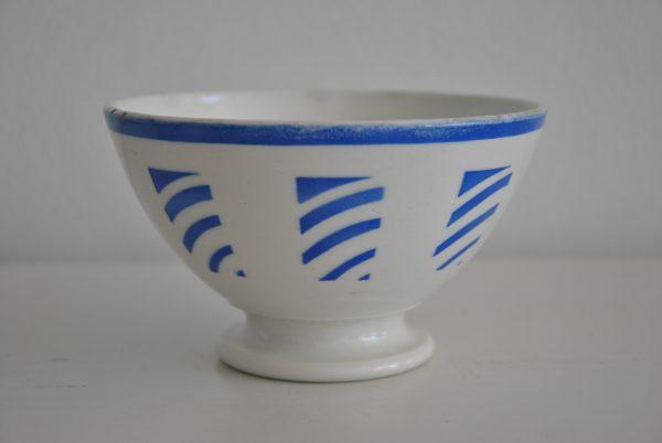Lyseblå mønstret cafeoleskål