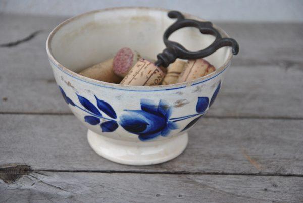 Smuk mørkeblå cafeoleskål