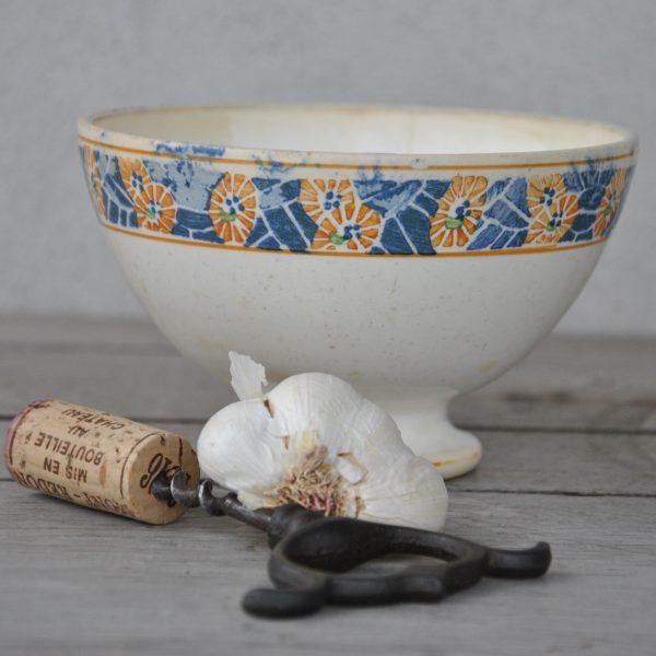 Flot gammel Cafeóle skål fra Frankrig