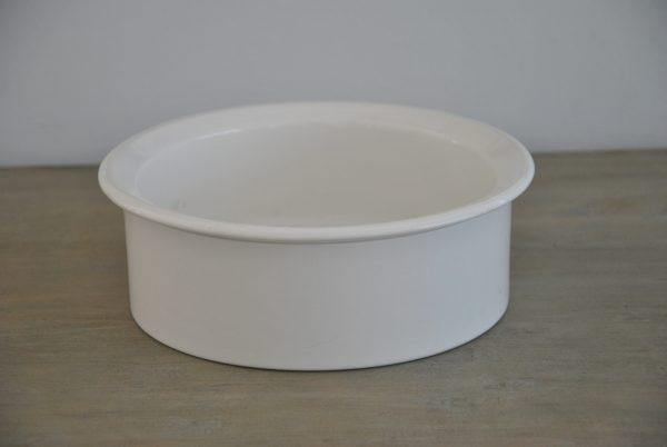 Hvid fransk porcelænsskål