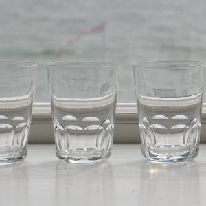 8 franske vandglas