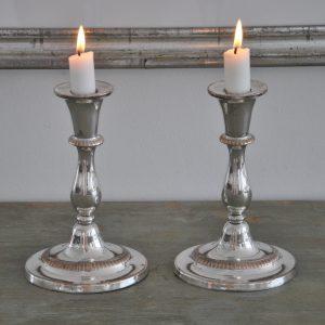 2 franske sølvlysestager
