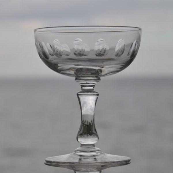 10 Gamle Krystal Champagneskåle