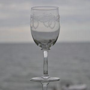 6 Ciselerede Rødvinsglas