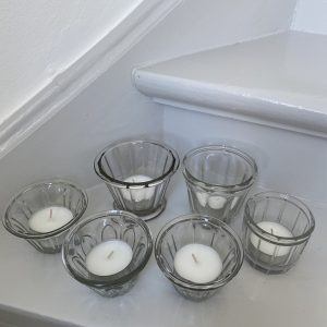 6 fransk glas til lys