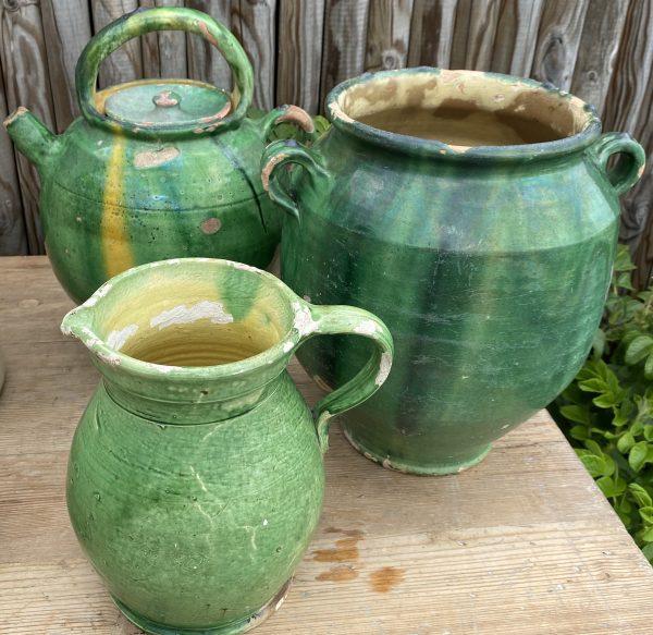 Stor grøn Provencekrukke