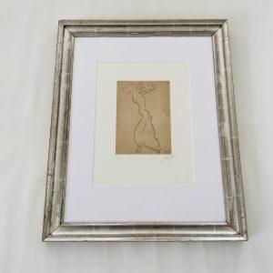 Miro Litografi i sølvramme