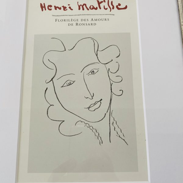 Matisse Litografi i sølvramme