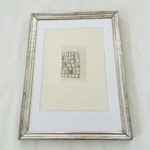 Houdart litografi i sølvramme