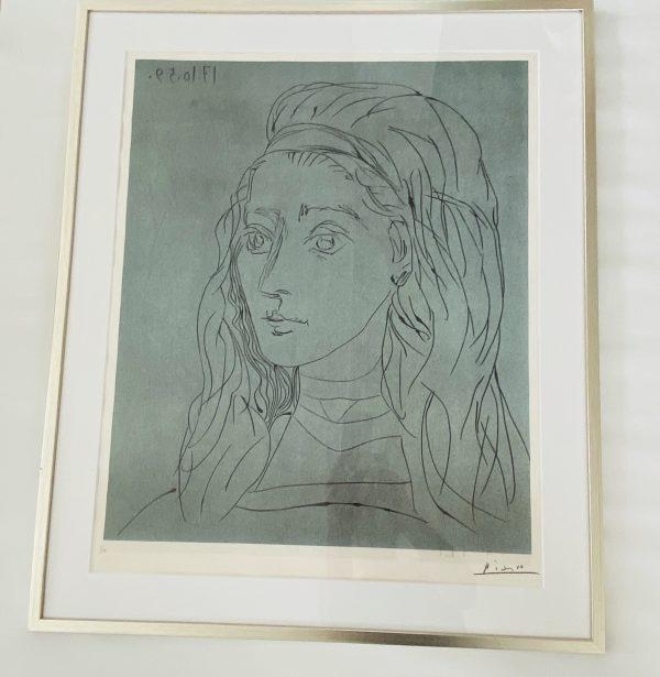 Picasso Litografi Nummereret 3/50