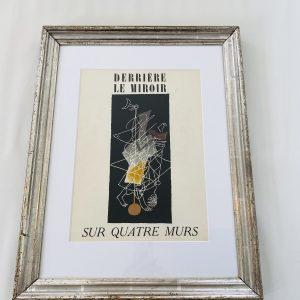 Braque Litografi i gammel sølvramme
