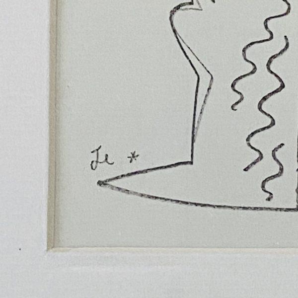 Jean Cocteau litografi