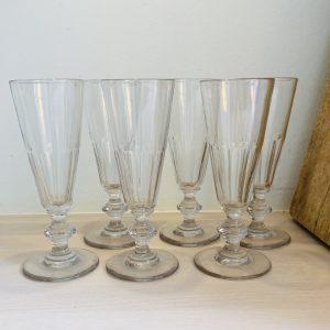 6 franske champagnefløjter
