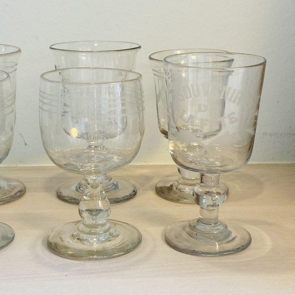 6 charmerende souvenirglas