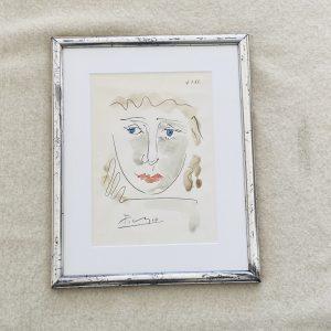 Picasso tegning af pigeansigt