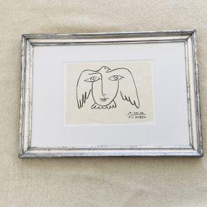 Picasso- Signeret blæktegning