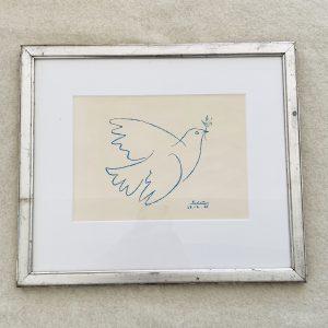Picasso Fredsdue i sølvramme