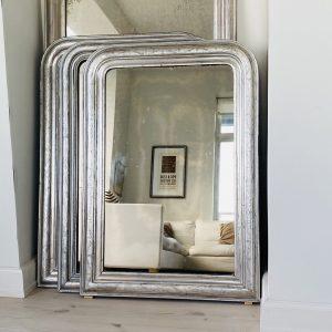 Stort Louis Philippe Sølvspejl 103 x 72 cm