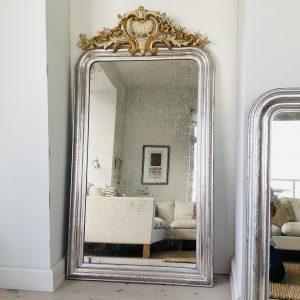 XL Louis Philippe Sølvspejl -156 x 84 cm